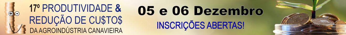 17º Seminário Sobre Produtividade e Redução de Custos da Agroindústria Canavieira (GRUPO IDEA)