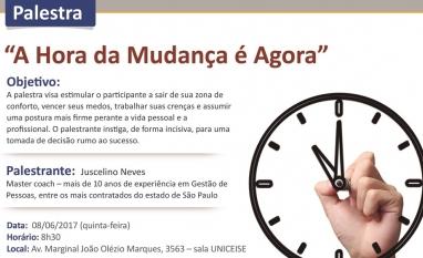 """CEISE Br e Kriar Gestão de Pessoas convidam para Palestra """"A Hora da Mudança é Agora"""""""