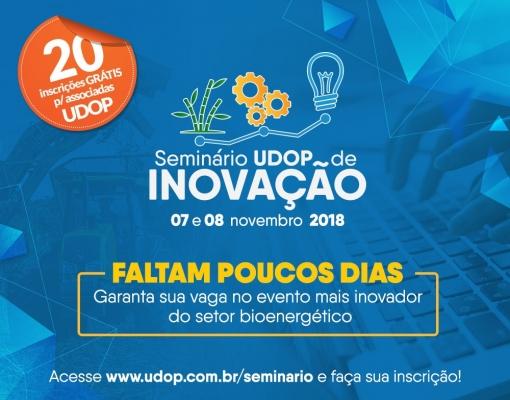 Garanta sua vaga - Seminário de Inovação UDOP