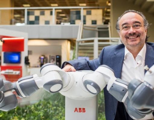 Rafael Paniagua, presidente da ABB, lançou em 2015 o primeiro robô colaborativo desenvolvido para trabalhar lado a lado com os humanos