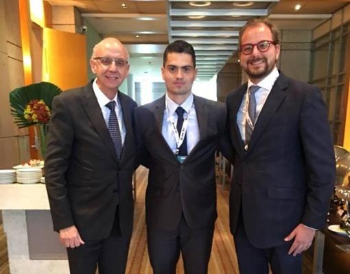 Plínio Nastari; Luis Carlos Jorge; e Guilherme Nastari, diretor da DATAGRO.