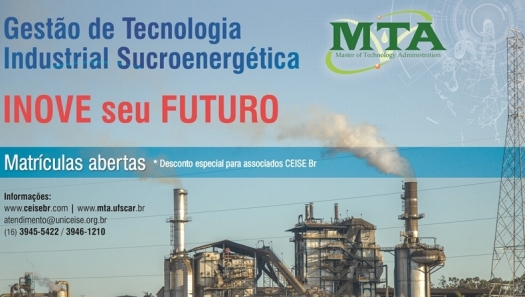 Matrículas Abertas: MTA - Gestão de Tecnologia Industrial Sucroenergética