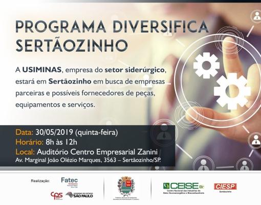 Programa Diversifica Sertãozinho - USIMINAS
