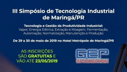 III Simpósio de Tecnologia Industrial de Maringá/PR