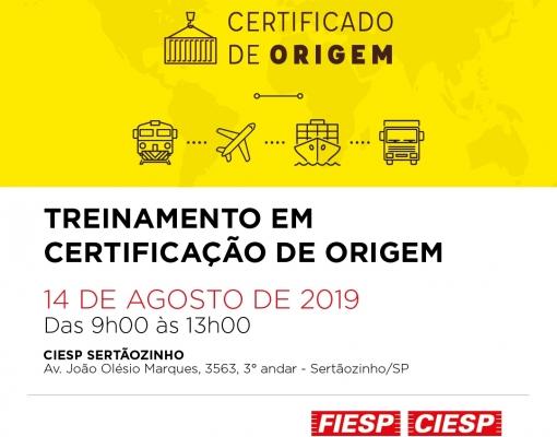CIESP Sertãozinho - Treinamento em Certificação de Origem