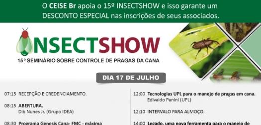 Programação completa - 15º Insectshow (Parceiro CEISE Br)