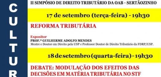 II Simpósio de Direito Tributário da OAB Sertãozinho