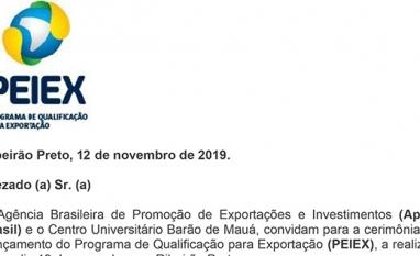 Lançamento do Programa de Qualificação para Exportação (PEIEX)