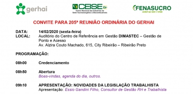 205ª Reunião do GERHAI