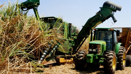 Custo em maquinário na produção de cana
