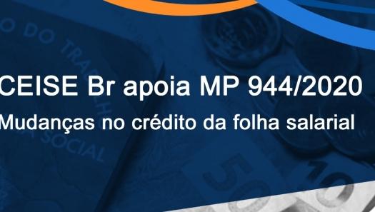 Crédito da folha salarial - CEISE Br apoia parecer à MP 944/2020