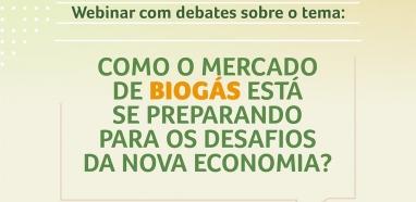 Tendências e oportunidades para o mercado do biogás serão debatidas no primeiro webinar da FENASUCRO & AGROCAN