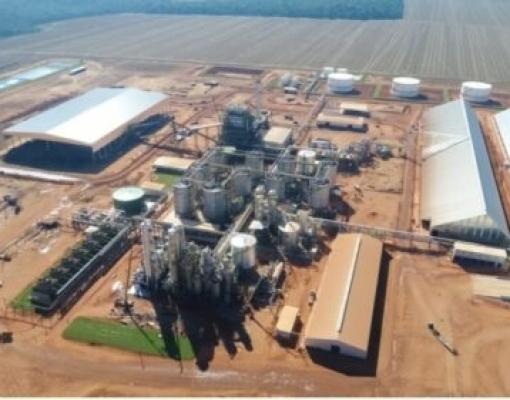 Nova unidade terá capacidade de produzir de 900 mil a 1 milhão de litros de etanol por dia