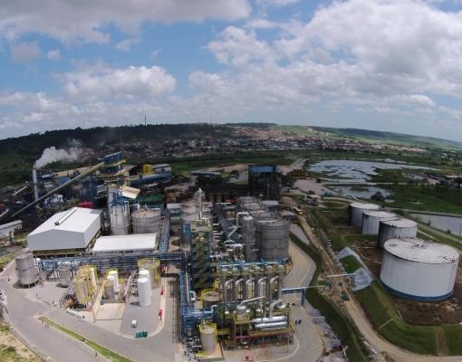 Usina de etanol celulósico da GranBio em Alagoas. Foto: GranBio/divulgação