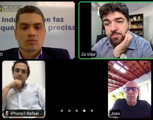 Presidente do Ceise Br, Luís Carlos Junior Jorge, participou de videoconferência com o Deputado Federal Zé Vitor, PL/MG, relator da MP 944/20.