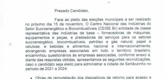 CEISE Br PROMOVE ENTREVISTAS COM OS CANDIDATOS A PREFEITO DE SERTÃOZINHO.