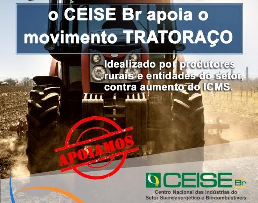 CENTRO NACIONAL DAS INDÚSTRIAS DO SETOR DE BIOENERGIA APOIA MOVIMENTO AGRO CONTRA AUMENTO DE ICMS
