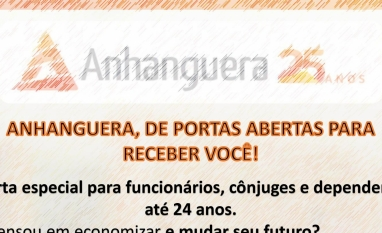 DESCONTOS FACULDADE ANHANGUERA